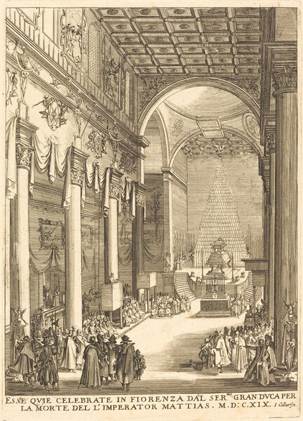 The Catafalque of the Emperor Mathias