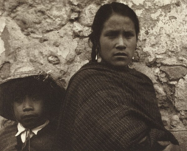 Young Woman and Boy, Toluca