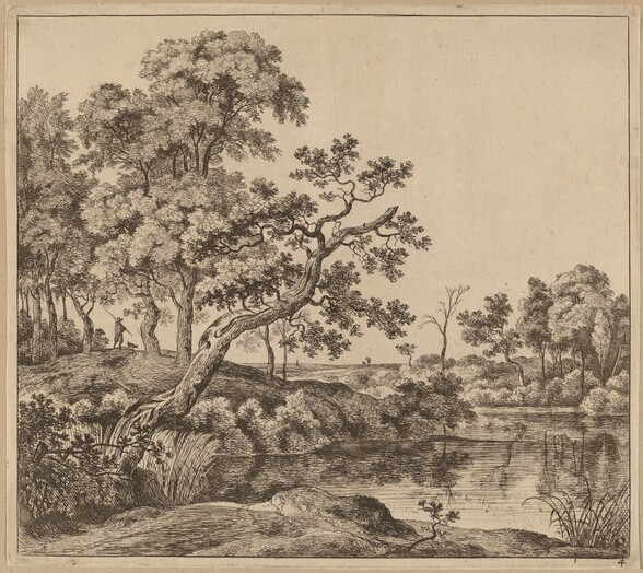 Landscape with a Bending Tree