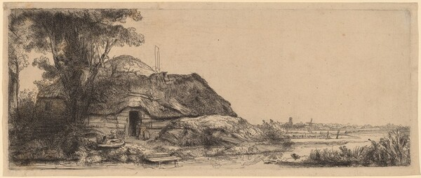Landscape with a Cottage and a Large Tree
