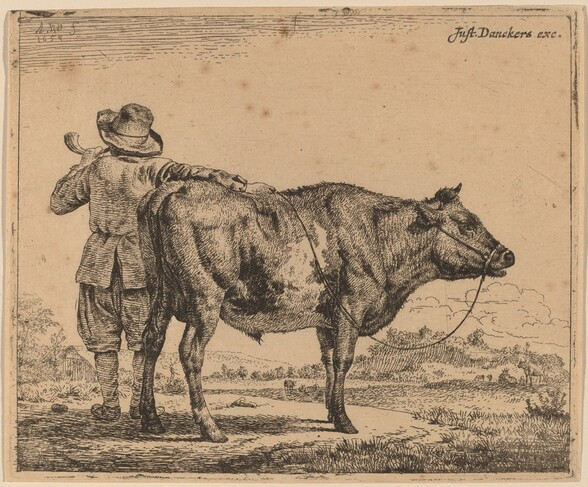 Young Herdsman with a Bull