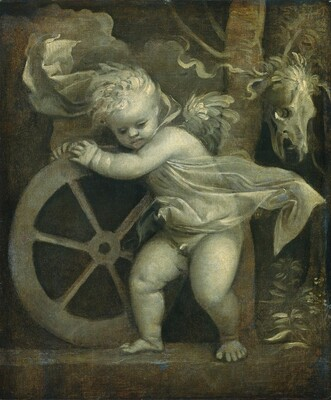 Cupid with the Wheel of Time