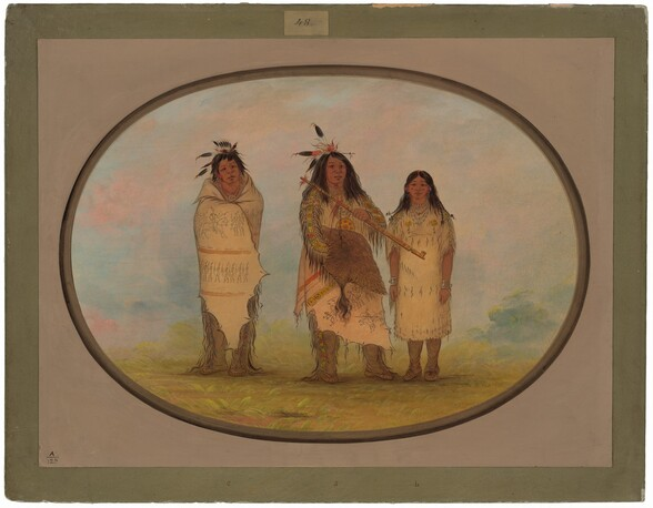 A Cheyenne Chief, His Wife, and a Medicine Man