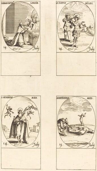 St. Bonaventura; St. Justus; St. Henry, Emperor; St. Antiochus
