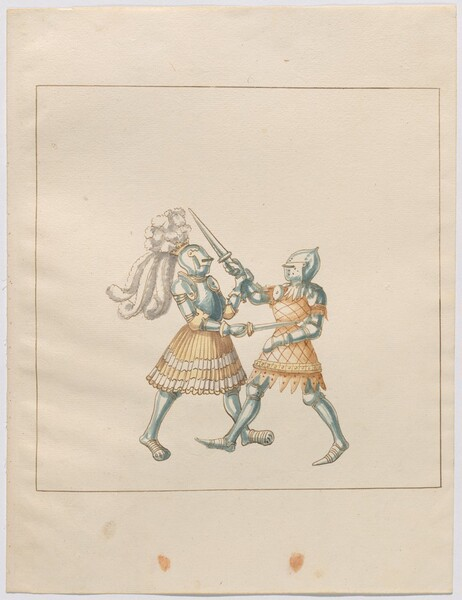 Freydal, The Book of Jousts and Tournament of Emperor Maximilian I: Combats on Foot (Jousts)(Volume III): Plate 173
