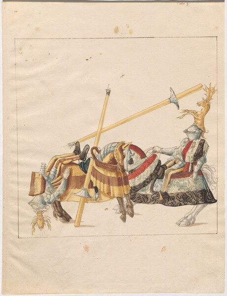Freydal, The Book of Jousts and Tournaments of Emperor Maximilian I: Combats on Horseback (Jousts)(Volume I): Plate 22