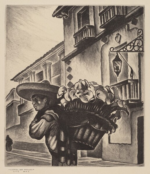 Untitled (Mexican Man With Bushel of Flowers)