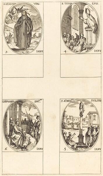 St. Genevieve; St. Titus; St. Simeon Stylites; Epiphany