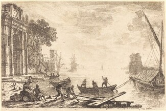 Claude Lorrain, Harbor Scene with Rising Sun (Le soleil levant), 16341634