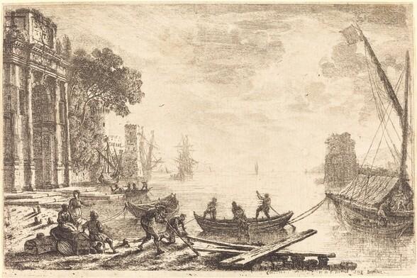 Harbor Scene with Rising Sun (Le soleil levant)