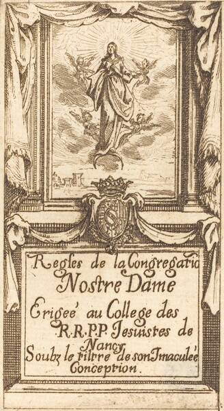 Frontispiece for The Rules of the Order of Our Lady