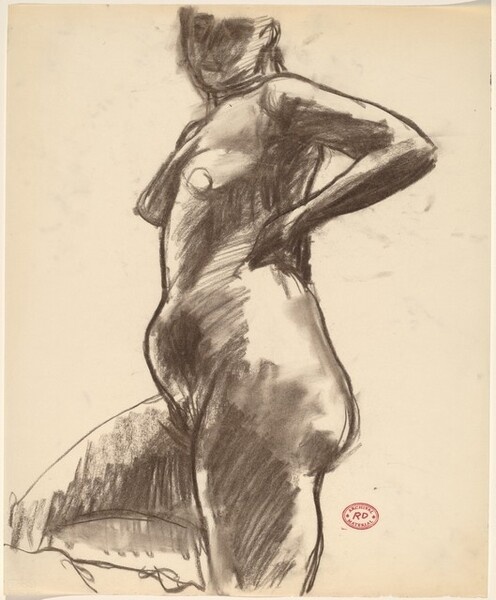 Untitled [standing female nude]