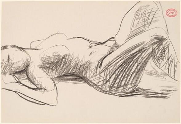 Untitled [sleeping female nude]
