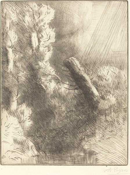 Memories of Fountainebleau in the Rain (Souvenir de Fountainebleau (Effet de pluie))
