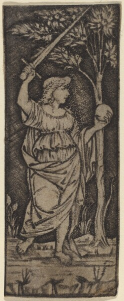 Allegorical Figure: Woman with Sword and Sphere