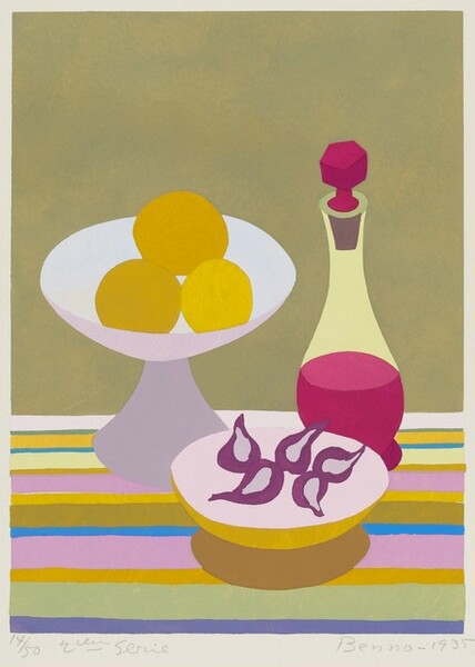 Still Life with Decanter, Lemons and Figs