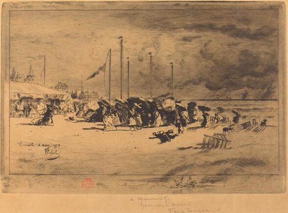 Un Grain à Trouville (Squall at Trouville)