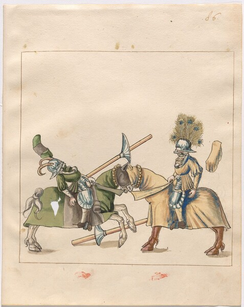 Freydal, The Book of Jousts and Tournament of Emperor Maximilian I: Combats on Horseback (Jousts)(Volume II): Plate 77
