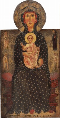 Madonna and Child Enthroned with Four Saints