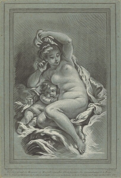 Venus and Cupid on a Dolphin