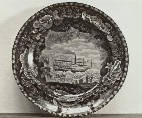 Plate - Steamer, Union Line