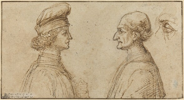 Bust of Two Men [recto]