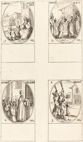 St. Simeon Salus; The Visitation; Deposition of the Virgin