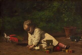 Thomas Eakins, Baby at Play, 18761876