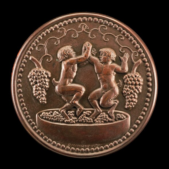 Two Satyrs Treading Grapes [reverse]