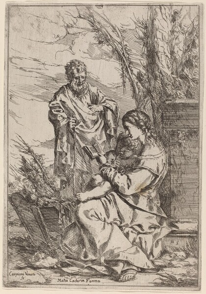 Holy Family with the Virgin Reading