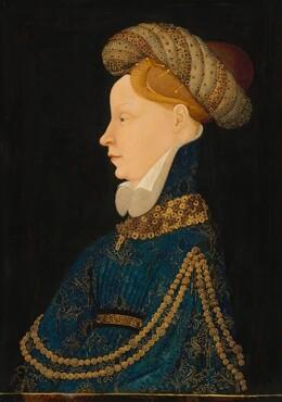 Franco-Flemish 15th Century, Profile Portrait of a Lady, c. 1410