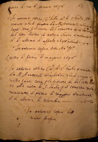 ASR, TNC, uff. 11, 1598, pt. 2, vol. 38, fol. 67r