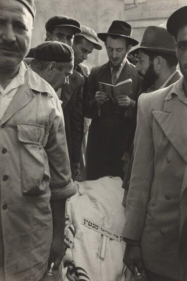 David Seymour (Chim), Funeral on Israeli Border, 1953