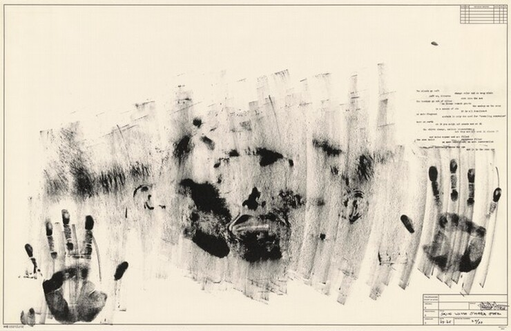 <p>Jasper Johns, Universal Limited Art Editions, Ben Berns, Skin with O'Hara Poem, 1963-1965