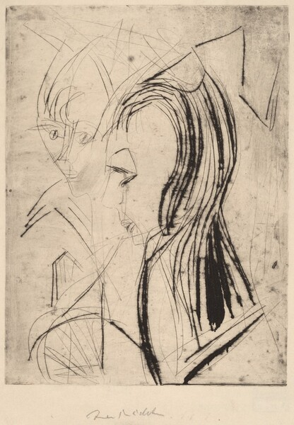 Heads of Two Girls