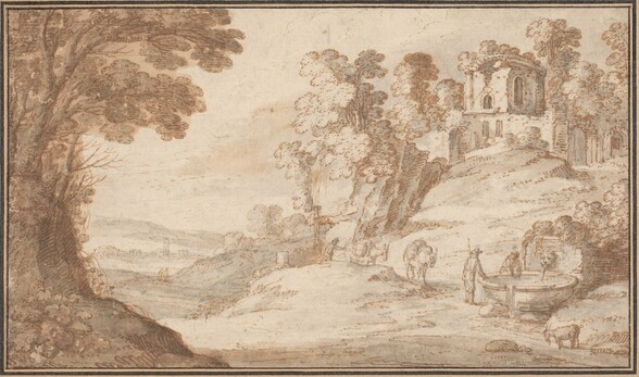 Classical Landscape with a Fountain