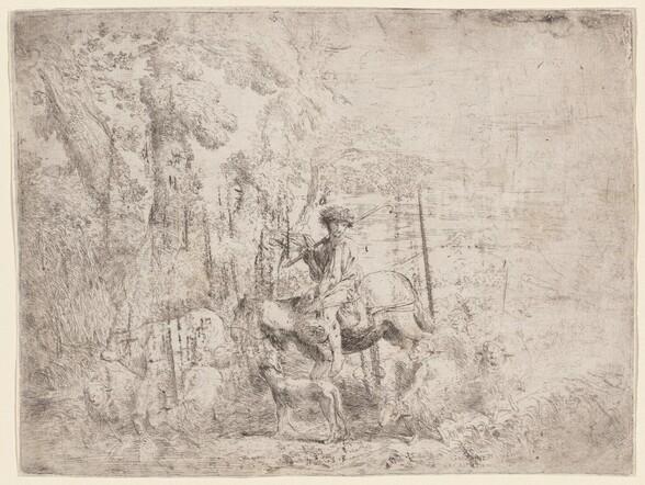 Young Shepherd on Horseback