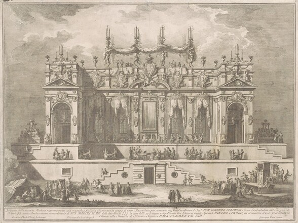 The Seconda Macchina for the Chinea of 1764: A  Magnificent Gallery Illuminated at Night
