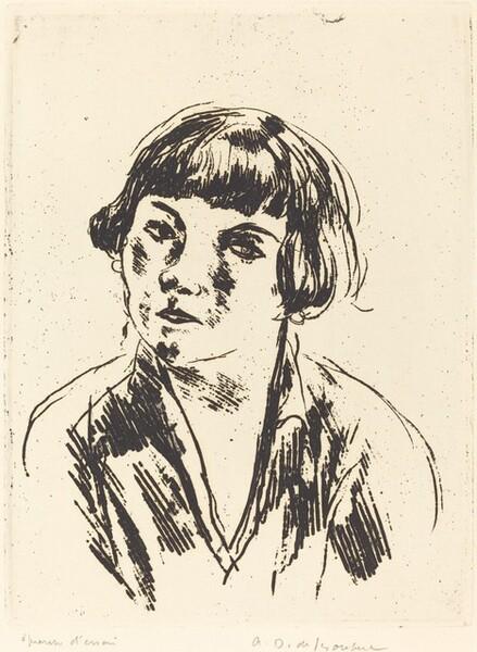 Young Woman, Boulevard Sebastopol (Fille, Boulevard Sebastopol)