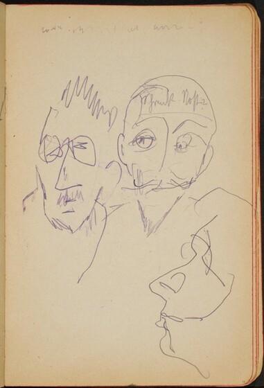 Max Beckmann, drei Köpfe und Beschriftung (Three Heads, One Notation) [p. 11]