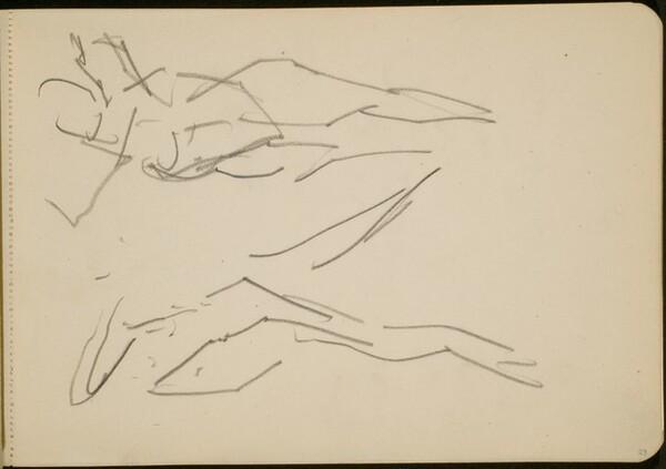 Studie zweier tanzender Figuren (Study of Two Dancing Figures) [p. 29]