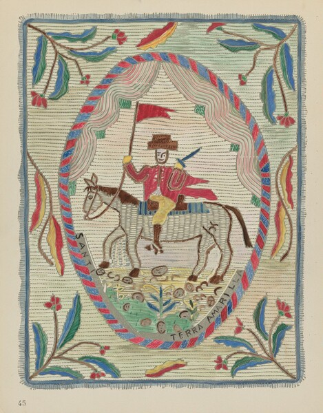Plate 45: Embroidered Bedspread (St. James): From Portfolio Spanish Colonial Designs of New Mexico
