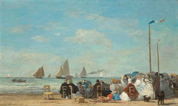 Beach Scene at Trouville