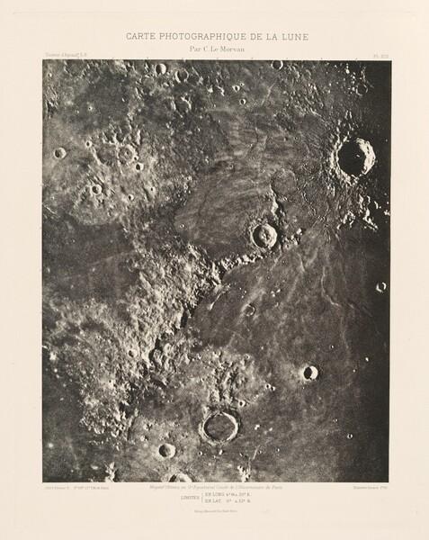 Carte photographique de la lune, planche XIII (Photographic Chart of the Moon, plate XIII)