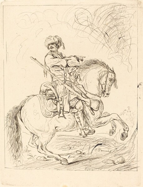 A Dragoon on Horseback