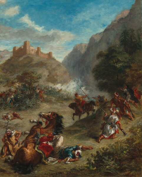 Arabs Skirmishing in the Mountains
