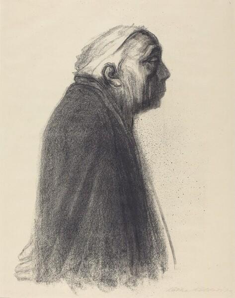 Self-Portrait in Profile Facing Right (Selbstbildnis in Profil nach Rechts)