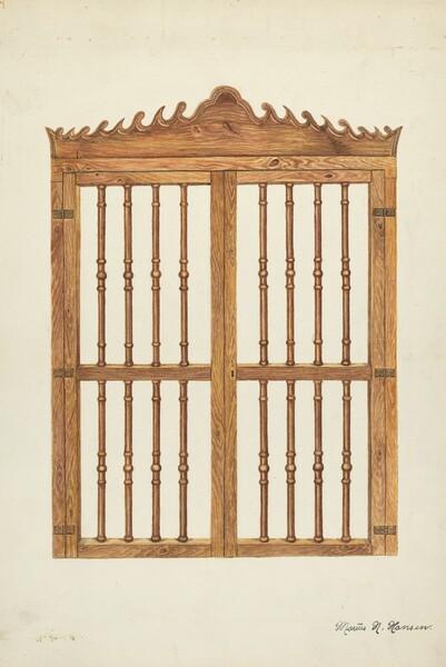 Grille Doors of Wood