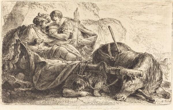 Darius Receiving Water from the Helmet of One of Alexander