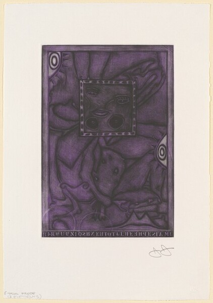 Untitled (Purple Mezzotint) [trial proof E]